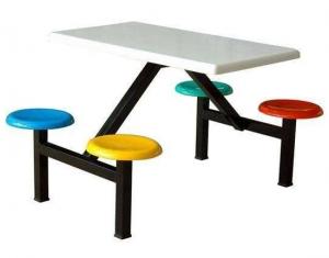 四座不锈钢餐桌